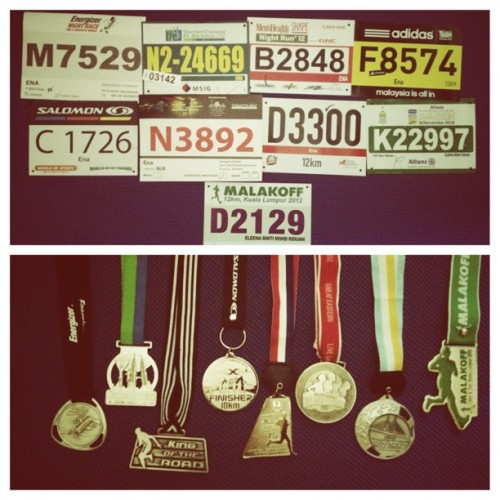 2012 Running Bibs &amp; Medals