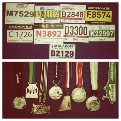 2012 Running Bibs & Medals