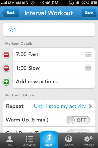 Runkeeper Screen 5