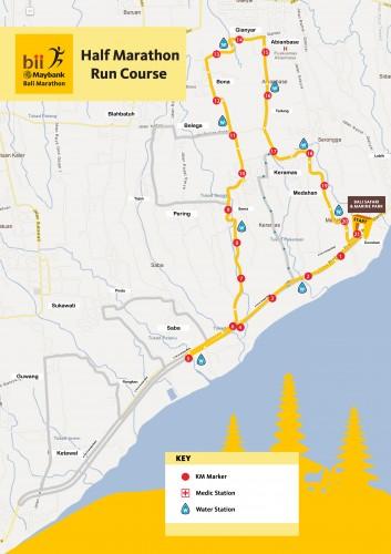 Half-marathon route.